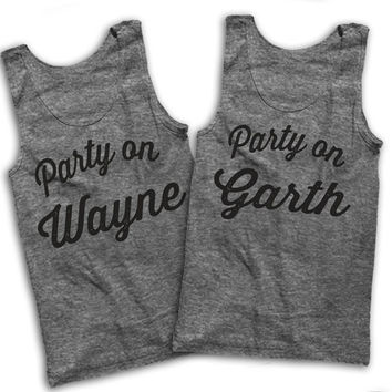 Party On Wayne, Party On Garth Best Friends Tank Tops!