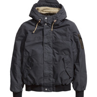 H&M - Padded Pilot Jacket - Dark gray - Men