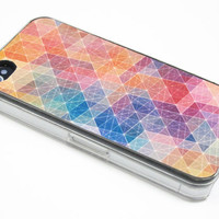 Geometric iPhone 4 Case, iPhone 4s Case, iPhone 4 Cover, Hard iPhone 4 Case , iphone 4 silicone case