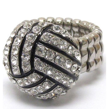 "Crystal ""Bling"" Volleyball Ring"
