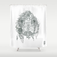B L O S S O M Shower Curtain by Cassidy Rae Limbach