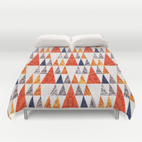 TEEPEE TOWN Duvet Cover by Daisy Beatrice