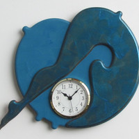 Unique modern art sculpture wall clock