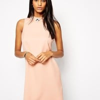 True Decadence | True Decadence High Neck Shift Dress with Embellished Neck at ASOS