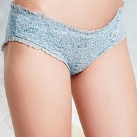 Dotted Fleur Applique Briefs in Grey - Urban Outfitters