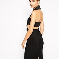Solace London Franklin Bodycon Dress With Cut Out Back