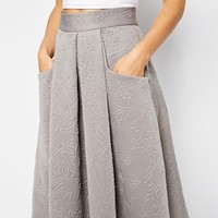 Closet Full Skater Skirt in Baroque Embossed Scuba