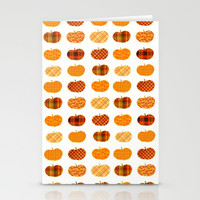 Pumpkin Pattern Stationery Cards by Bunhugger Design