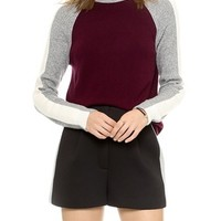 O'2nd Color Combo Turtleneck Sweater