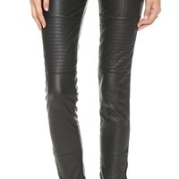 Free People Faux Leather Skinny Pants