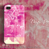 Apple iphone case for iphone iphone 5 iphone 5s iphone 5c iphone 4 iphone 4s iPhone 3Gs : abstract natural with pink watercolor