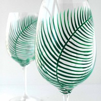 Fern  Wine Glasses--Set of 4