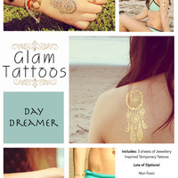 Glam Tattoos - Day Dreamer - Individual Sheet - Free Worldwide Shipping!