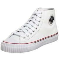 PF Flyers Center High Sneaker,White,Men`s 7 M US/Women`s 8.5 M US