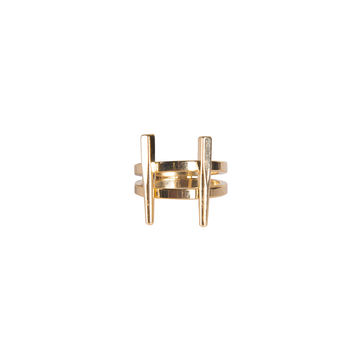 STACKED DOUBLE BAR RING