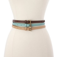 Braided, Solid &amp; Studded Belt Trio