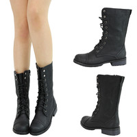 Round Toe Gold Metal Chain Embellished Low Flat Heel Over Knee Thigh Riding Boot