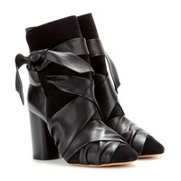 Azel leather and suede ankle boots