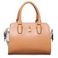 Becky Floral Satchel in Tan Floral