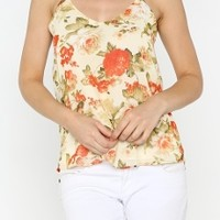 X's & O's ChiffonTop in Red