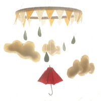 Nursery Mobile- Little Red Umbrella