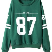 Green Baseball Sweatshirt - OASAP.com