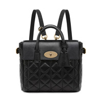 Mini Cara Delevingne Bag in Black Quilted Nappa | Cara Delevingne | Mulberry
