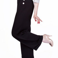 1940s Swing Pants - Black