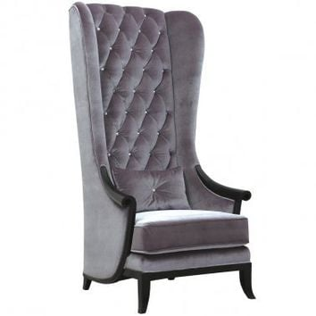 Very Velvet Blofeld Platinum Chair