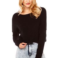 Croppin' It Sweater in Black