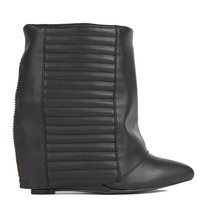 Play Wedge Bootie in Black
