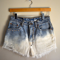 studded & dip dyed cutoffs