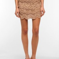 Staring at Stars Tiered Crochet Mini Skirt