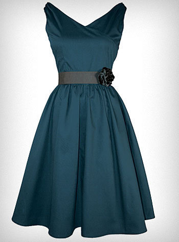 Peacock Blue Flair Dress