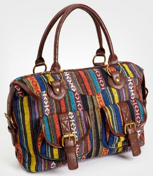 Villahermosa Stripe Satchel