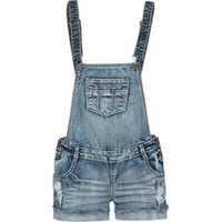VANILLA STAR Raw Edge Cuff Womens Denim Overalls 191562873 | Rompers & Overalls | Tillys.com