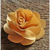 Wooden Roses PDF Tutorial Using Birch Wood Shavings