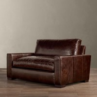 Maxwell Leather Chair-and-a-Half | Chairs | Restoration Hardware