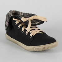 Cassey-5 Round Toe Lace Up Sneaker