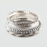 FULL TILT 9 Piece Metal Bangle Bracelets 197868140 | Jewelry | Tillys.com