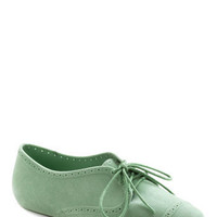 Mutual Mint-erists Flat | Mod Retro Vintage Flats | ModCloth.com