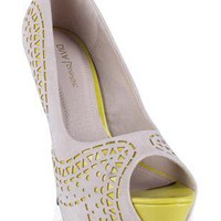 peep toe pump with cutout design - debshops.com