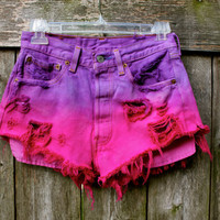 Ombre Dyed Shorts