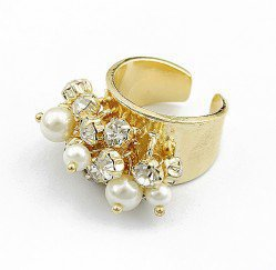 Pearl Rainbow Ring (Gold) | LilyFair Jewelry