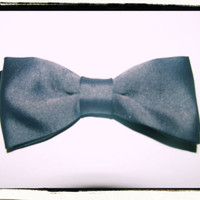 NEW REVERSIBLE BOWTIE  - Grey &amp; Black