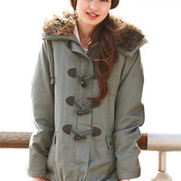 Cotton Toggle Snorkel Coat