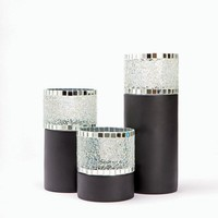 Mosaic Glass Hurricane Candle Holder at Spiegel.com