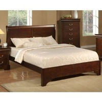 California King Low Profile Sleigh Bed in Cappuccino