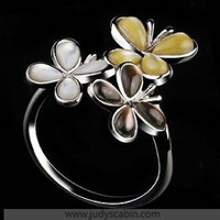 IDee Sterling Silver Cluster Ring - Cocktail Ring - Rings