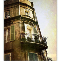 "New Orleans French Quarter Photograph. 8""x10"" Languille Building Print. Mardi Gras. Wrought Iron Balconies."